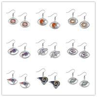 bear city - 20pcs Enamel Baltimore Bears Kansas City Oval Football Team Logo Earring For Jewelry Making EH108072
