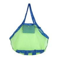 beach basket bag - Creative Folding Baby Child Beach Mesh Bag Child Bath Toy Storage Bag Net Suction Cup Baskets for Outdoor Hanging Big Volume