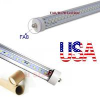 Wholesale led tubes ft single pin FA8 t8 led tubes Double Rows W W LED Fluorescent Tube Lamps V Stock In USA