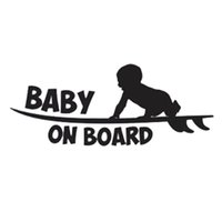 Glue Sticker baby changing board - 19 cm cm Car Styling Warning Logo Baby On Board Cute Vinyl Car Tail Stickers