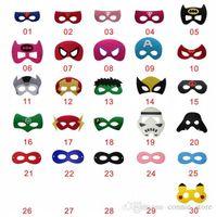 Easter batman costumes children - Hot Costume party masks halloween cosplay masks kids superman captain america batman felt cartoon masks