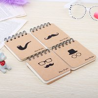 Notepads Hard Copybook Coil/Spiral Free Shipping Fashion Mr. Beard Series Coil   Portable Notebook   Notebook Creativity   Korean Stationery Notes Notepads Student Supplies
