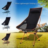 Wholesale Ultra Lightweight and easy setup design Folding Portable Outdoor Camping Hiking Fishing Chair Lounger Chair made of aluminum alloy fra