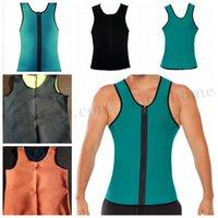 Wholesale Men s Body Shaper Gym Slimming Waist Training Corsets Weight Loss Workout Vest Exercise Sport Neoprene Tank Sauna Top Waist Trainer D267