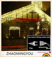 Wholesale HONG christmas lights outdoor decoration m droop m led curtain icicle string lights new year wedding party garland light