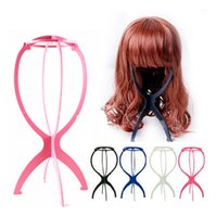 Wholesale Hot Sale Portable Folding Plastic Stable Durable Wig Hair Hat Cap Holder Stand Display Tool Wig Stand