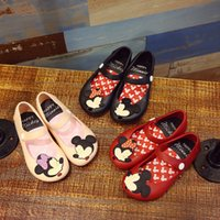 Girl beach shoes sandals - Kids Girl Mickey Minnie Sandals Toddler Baby Kids Beach Footwear Candy Smell Mini Melissa Shoes Color Retail