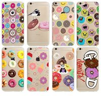 TPU apple snacks - Sweet dessert pastry Candy snack Donuts Soft clear Case For iPhone S Plus S SE C s back cover