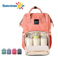 Gray baby nappy brands - Sunveno Fashion Mummy Maternity Nappy Bag Brand Large Capacity Baby Bag Travel Backpack Desiger Nursing Bag for Baby Care