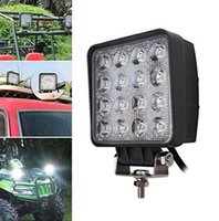 Wholesale Automotive LED4 inch w w work lights engineering lights off road vehicles w square LED auxiliary lighting spotlights