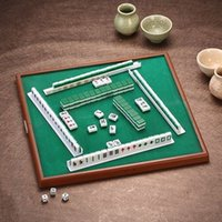 antique table sets - Portable Mahjong Set Chinese Antique Mini Mahjong Games Home Games Mini Mahjong Chinese Funny Family Table Board Game