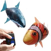 Wholesale 10 Hot Air Swimmers Shark Remote Control Remote Clownfish Flying Fish Ugly Fish Aerial Shark