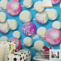 balloon background - 3D Balloon Wallpaper Modern Brief TV Background Wall Paper Roll Circle Wallpapers Non woven Wall Paper for Living Room Walls