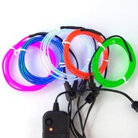 Wholesale Flexible EL Wire Neon Light M to EL Wire Rope Tube with Controller Halloween Christmas Decoration for Dance Party Car Decor Controller