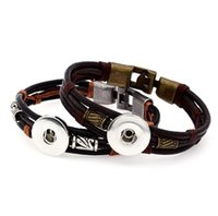 Wholesale 20 new design leather snap bracelet jewerly with one interchangeable noosa ginge snaps free shapping