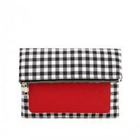Wholesale ZXT a beautiful grid pattern of bags red color zip useful substantial handbag suitable for lady and gentlmen