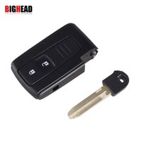Wholesale car BIGHEAD Smart BUTTON REMOTE KEY CASE SHELL FOR TOYOTA PRIUS COROLLA VERSO TOY43 BLADE WITH LOGO