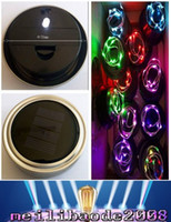 Wholesale Solar Powered Light Ip68 - 2017 NEW Color changing Silver Solar-powered Mason Jar Lids light up any mason jar (not include jar) FREE SHIPPING MYY