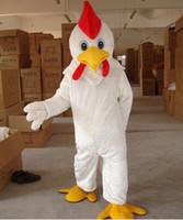 Adult Size White mascotte de poulet Costume WholeSale prix Mascotte de coq