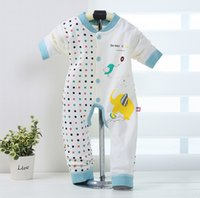 Wholesale 2017 Fishion Baby Romper Long Sleeve Cotton Baby Romper With Cartoon Pattern Clothing Lovely Elephant Cute Fish Drawing