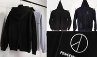 Wholesale japan style Peaceminusone X Championer harajuku hip hop sweatshirt female couples skateboards hoodies sudaderas hombre moleto