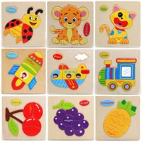 Wholesale New X Wooden Puzzle Animals Children Educational Toy Puzzle Cartoon Baby Children s Educational Toys Christmas Gift JT