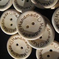 Wholesale Mixed Holes Handmade Love Heart Wood Sewing Buttons Scrapbooking mm
