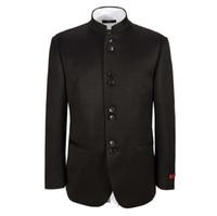 Wholesale men jacket wedding groom handsome suit jacket fashion popular style Mandarin collar custom high quality men jacket