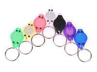 Wholesale Mini white light mcd LED Flashlight Keychain Torch Gift Toys