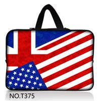 Wholesale USA Flag quot quot quot quot Laptop Notebook Computer Sleeve Bag Case Pouch Handle