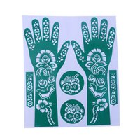 Wholesale New India Henna Temporary Tattoo Stencils Flower Design For Women Hand Leg Arm Feet Body Art Decal cm
