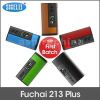 Wholesale Sigelei Fuchai Plus First Batch W Vape Mods TC Box Mod Dual Battery E Cigarettes VS Sigelei Fuchai w