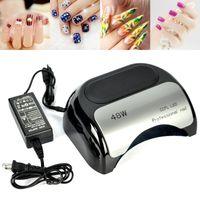 Wholesale 48W LED Nail Cure Dryer UV Gel Timer Lamp Automatic sensor Machine Hand Foot