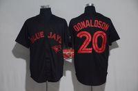 Wholesale Blue Jays Donaldson Black Fashion Baseball Jerseys Russell Martin Tulowitzki pillar Stroman Professional Jerseys