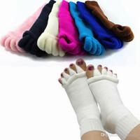athletic health - Five Toe Socks Yoga Socks Massage Separator Foot Pain Relief Soft Health Men Women Stretch Tendon Relieve Acrylon