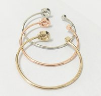 Wholesale New York Fashion Crystal Bangles letters cuff bracelets fashion brand designer jewelry for women girls silver gold rose gold