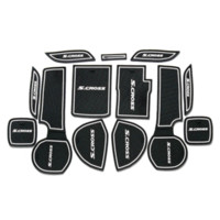 Whole Body auto parts sticker lot - 13PCS High Quality Latex Gate Slot Mat Car Cover Sticker For Suzuki S cross Interior Decoration Auto Parts Accessories