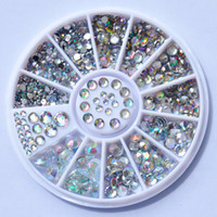 Wholesale Biutee Nail Decoration Rhinestone Sizes Silver Multicolor Acrylic Nail Art Decoration Glitter Nail Rhinestones Nail Tools