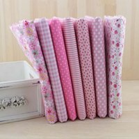 Wholesale 7 cmx50cm Pink Cotton Fabric fat quarters for Sewing Tilda Doll Cloth DIY Quilting Patchwork Tissue Textile