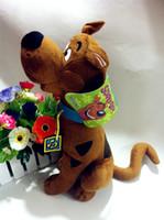 Venta al por mayor-35 cm suave peluche lindo Scooby Doo perro muñecas relleno de juguete nuevos regalos de Navidad