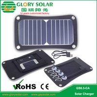 Wholesale Foldable solar charger W for phone power bank high quality solar bag green energy solar charger W for picnic camping