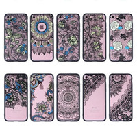 apples blossom - Lace Flower Blossom Hard Plastic TPU Case For Iphone S Plus P P Henna Paisley Mandala Floral Fashion Sunflower Clear Black Skin