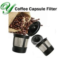 basket strainer filter - Coffee capsules filter baskets clever coffee dripper stainlesss steel permanent reuseable single coffee pod refillable k cups strainer maker