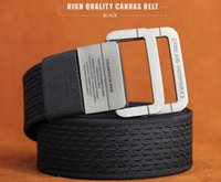 Wholesale Military Equipment Tactical Belt Man Double Ring Buckle Thicken Canvas Belts for Men Waistband