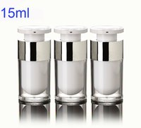 acrylic lotion dispenser - 300pcs ml Plastic Acrylic Lotion Bottles Portable Empty Refillable Airless Pump Dispenser Bottle For Travel Lotion Cream