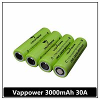 Wholesale Perfect quality A Vappower mah high discharge rate e cig battery better performance than VTC4 VTC5