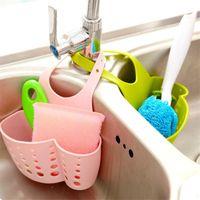 Wholesale Portable Home Kitchen Adjustable Hanging Drain Basket Bath Storage Tools Sink Holder Kitchen Handing Faucet Shelf