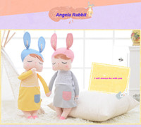 animal de poupée en peluche bébé angela achat en gros de-Angela Rabbit Girl Metoo Doll Kawaii Peluche Peluche Cartoon Cartoon Jouets pour enfants Enfant Baby Birthday Christmas Gift