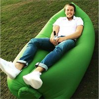 Wholesale fast inflatable bouncers sleep sofa beach PVC sleeping bag hangout camping sofa lazy chair outdoor high quality