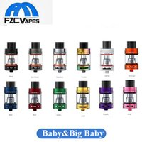12 subs al por mayor-Original 5ml SMOK TFV8 Big Baby Beast tanque 12 colores 3 ml TFV8 bebé Sub ohm Vape tanque atomizador